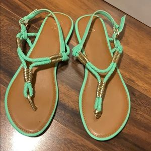 New York and company sandals Neon green